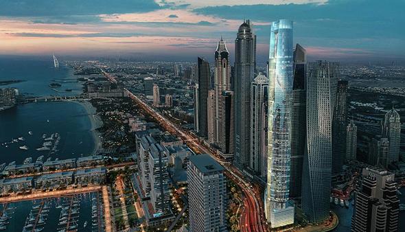 הדמיית מגדל סייל בדובאי The Ciel Tower המגדל הגבוה בעולם 1, הדמיה: The First Group