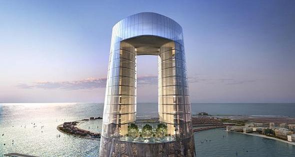 הדמיית מגדל סייל בדובאי The Ciel Tower המגדל הגבוה בעולם 2, הדמיה: The First Group
