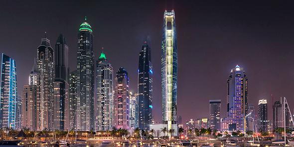 הדמיית מגדל סייל בדובאי The Ciel Tower המגדל הגבוה בעולם 3, הדמיה: The First Group
