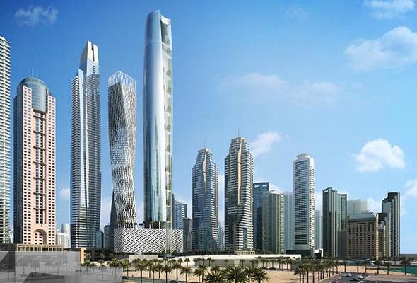 הדמיית מגדל סייל בדובאי The Ciel Tower המגדל הגבוה בעולם 4, הדמיה: The First Group