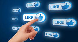 כפתור כפתורי לייק שיתוף פייסבוק, צילום: שאטרסטוק