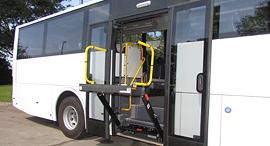 אוטובוס מונגש לנכים של חברת מרכבים 1, צילום: באדיבות מרכבים