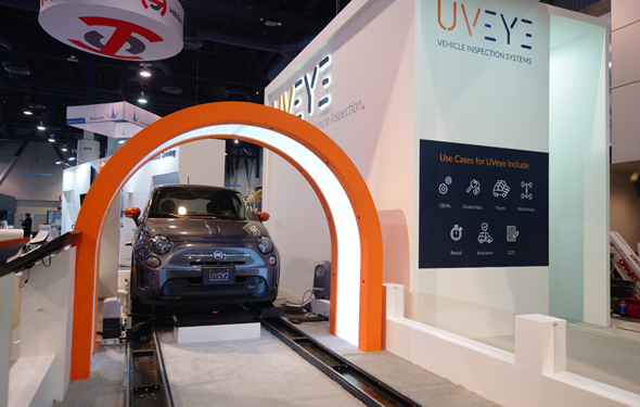 UVeye's vehicle inspection system on display at CES 2010. Photo: PR