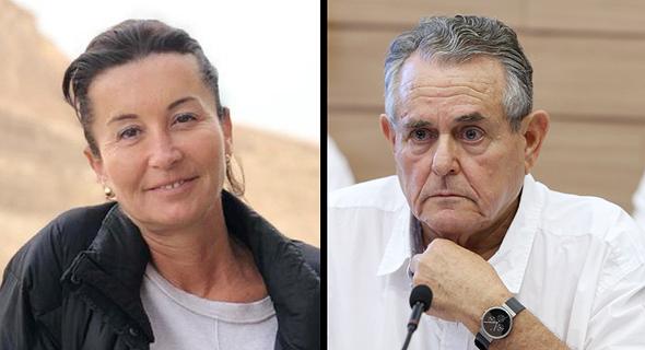 """מנכ""""ל סלטי שמיר עמי גיא ומנכ""""לית ישראל לשעבר סבינה בירן, צילום: עמית שאבי"""