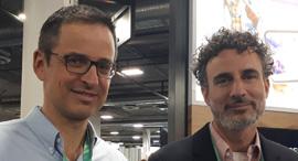 Koby Maluk (right)  Mordechai Cohn. Photo: Lilach Baumer