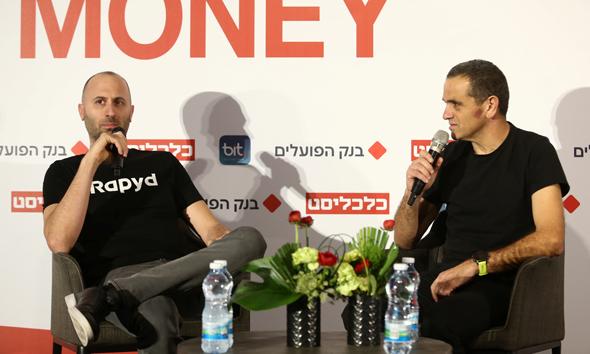 אריק שטילמן בשיחה עם מאיר אורבך, צילום: אוראל כהן