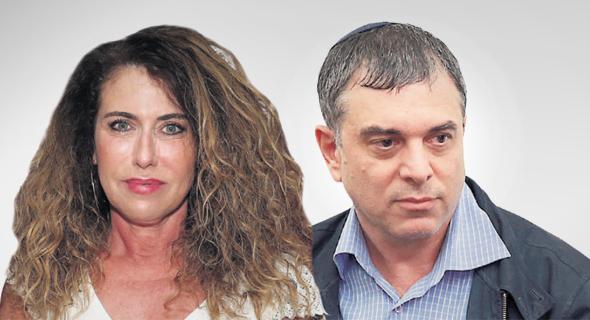 """מימין: שלמה פילבר ומנכ""""לית בזק לשעבר סטלה הנדלר"""