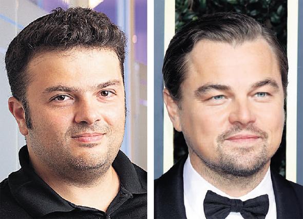 מימין: הפרזנטור לאונרדו דיקפריו והמשקיע יצחק מירילשווילי, צילומים: רונן גולדמן, AFP