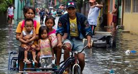 שטפונות בפיליפינים, צילום: גטי אימג'ס