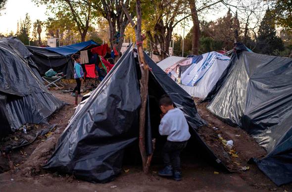 פליטים בגבול מקסיקו