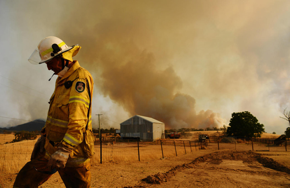 שריפה באוסטרליה, צילום: גטי אימג
