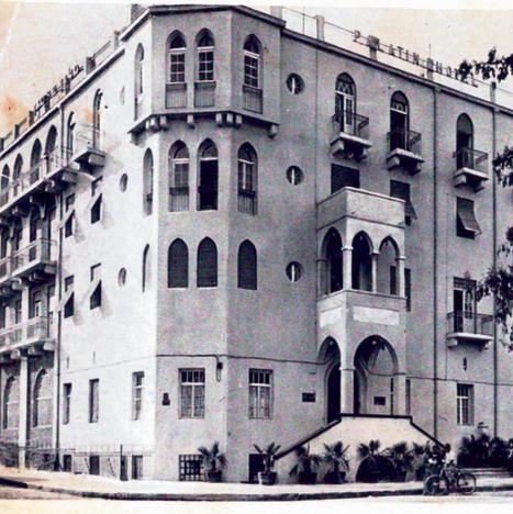 גלויה של מלון פלטין בשנות ה־20