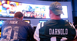 """הימורי ספורט בארה""""ב. שוק ההימורים במדינה מגלגל 147 מיליארד יורו בשנה, צילום: איי פי"""