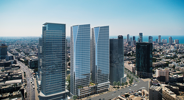 הדמיית הפרויקט. שני מגדלים בני 34 קומות