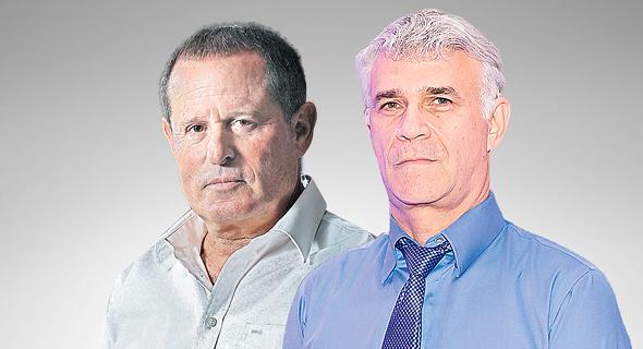מימין: מנהל קרן פימי ישי דוידי ובעל השליטה במבטח שמיר מאיר שמיר, צילום: אוראל כהן