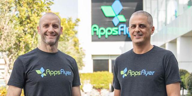 AppsFlyer co-founders Oren Kaniel and Reshef Mann. Photo: PR