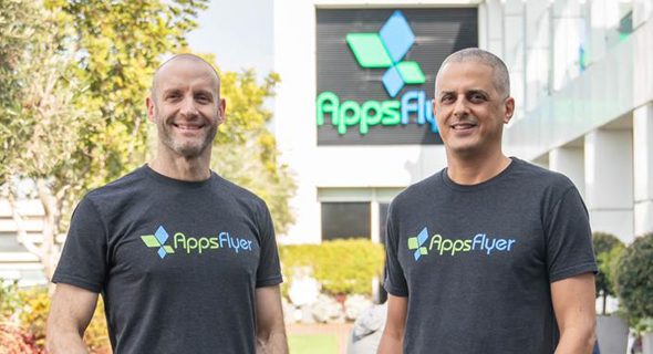 AppsFlyer co-founders Oren Kaniel (right) and Reshef Mann. Photo: Salesforce