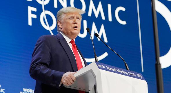 """נשיא ארה""""ב דונלד טראמפ בפורום הכלכלי בדאבוס, השבוע"""