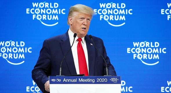 """נשיא ארה""""ב דונלד טראמפ דאבוס 2020, צילום: רויטרס"""