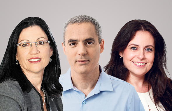מימין: מרתה נדלר, דני ירדני ורונית הראל, צילומים: אורן קאן, אילן בשור, משה שי
