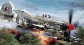 הקברניט הטייס הנוקם טייפון מטוס קרב, איור: airfix
