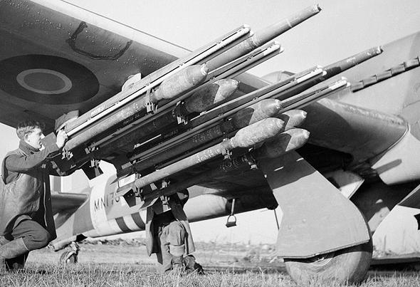 חימוש מטוס טייפון, צילום: RAF