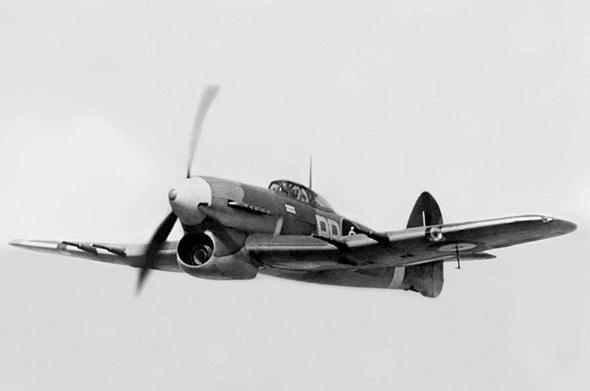 מטוס ההוקר טייפון, צילום: wrsquadron609