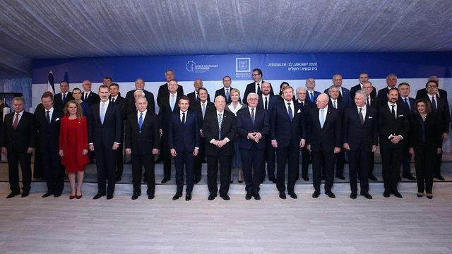 המנהיגים מהעולם אמש בבית הנשיא בירושלים, צילום: עמית שאבי