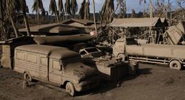 פוטו פיליפינים הר געש טאלל אפר וולקני מכוניות , צילום: Getty