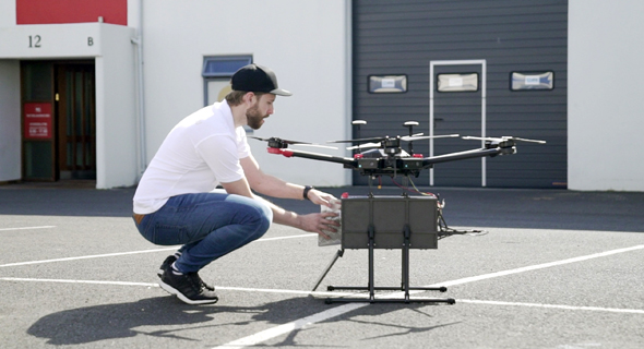 El dron de Flytrex. Foto: Flytrex Aviation