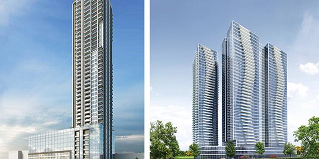 מזרחי סיטי סנטר (מימין) ומגדל אברהם. שימושים ראויים במודל עירוב השימושים , הדמיות: עדי בואנו