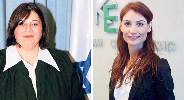 """מימין: עו""""ד רומי קנבל והשופטת רבקה מקייס, צילום: מתוך אתר הרשות השופטת"""