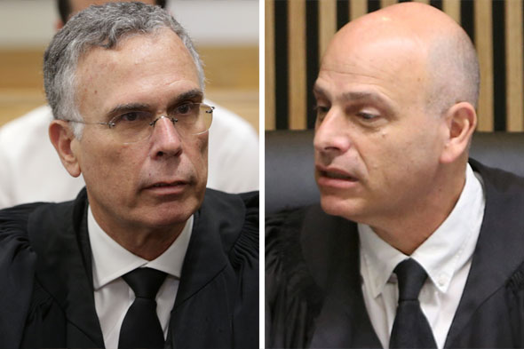 """מימין: השופט אורנשטיין ועו""""ד בנקל. """"פורום שיפוטי מתאים יותר בגרמניה"""""""