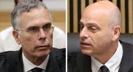"""מימין: השופט אורנשטיין ועו""""ד בנקל. """"פורום שיפוטי מתאים יותר בגרמניה"""", צילומים: נמרוד גליקמן, אוראל כהן"""