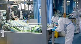 מחלקה מבודדת בסין לטיפולי בנגיף קורונה, צילום: איי פי
