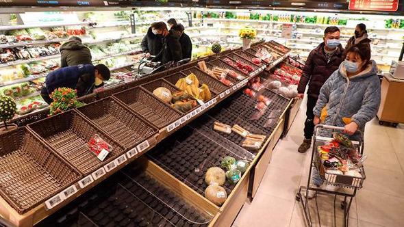 סופרמרקט בווהאן, צילום: EPA