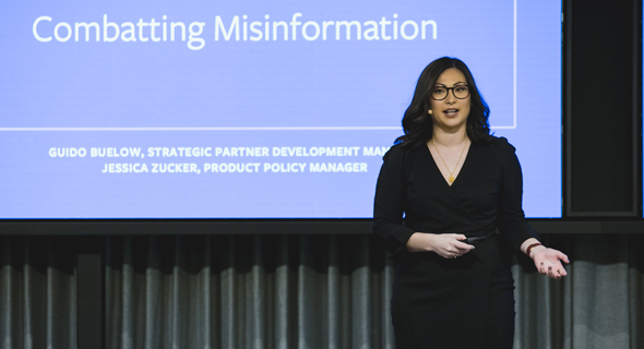 Facebook product policy manager Jessica Zucker. Photo: Tomer Poltin