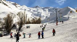 גולשי סקי איראנים באתר דיזין , צילום: Fatemeh Bahrami