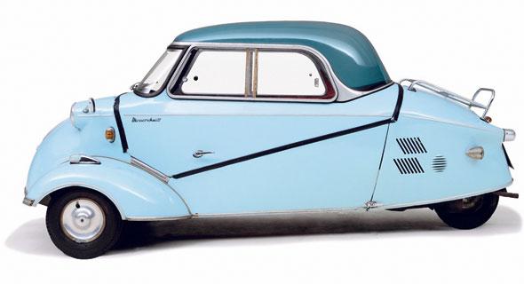 KR200 של מסרשמיט מ־1959. התערוכה סוקרת כגם את הנזקים של תעשיית הרכב