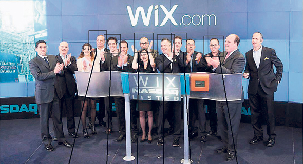 Wix's IPO. Photo: Nasdaq OMX