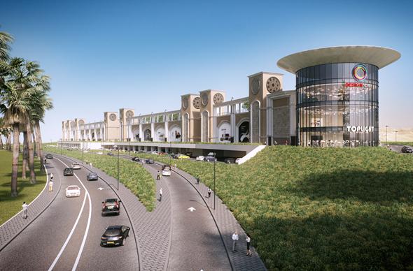 מתחם דיזיין סיטי. יאגד כ-250 מותגים ורשתות, בינלאומיות ומקומיות  , הדמיה:  3DVISION