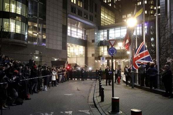 בריטניה עזבה את האיחוד האירופי ברקזיט, צילום: AP