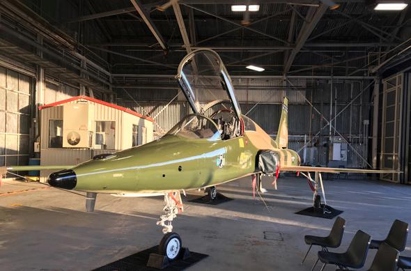 """מטוס טי 38 של חיל האוויר של ארה""""ב, צילום: נורת"""