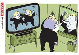 קריקטורה 3.2.20, איור: צח כהן