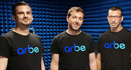 Arbe co-founders Oz Fixman, Noam Arkind, and Kobi Marenko. Photo: PR