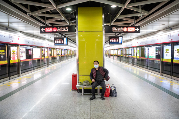 Empty train station in Guangdong. Photo: API