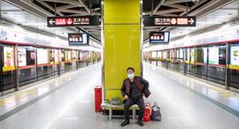 תחנת רכבת ריקה  ב- Guangdong Province, סין