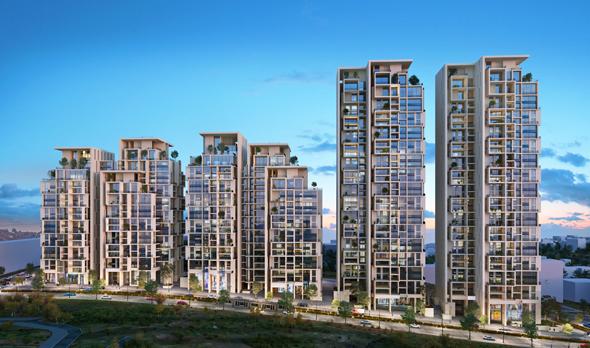 הפרויקט ברחוב הצוף. פינוי מבני רכבת ישנים לטובת הקמת מתחם מודרני עם כ-800 יחידות דיור  , הדמיה: איוולב מדיה