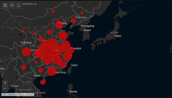 אתר המידע על מגיפת הקורונה, צילום: מסך אתר אוניברסיטת ג