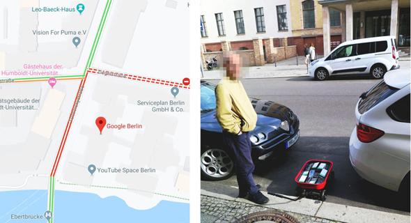 סיימון ווקרט אמן ברלין פקק תנועה גוגל מפס  Maps , צילום: simonweckert.com